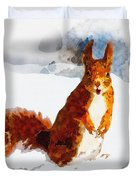 How Comedic Are Squirrels Duvet Cover