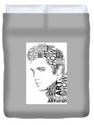 How Great Thou Art Elvis Wordart Duvet Cover