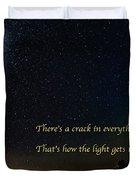How The Light Gets In 2 Duvet Cover