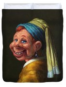 Howdy With A Pearl Earring Duvet Cover
