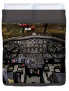 Hu-16b Albatross Cockpit Duvet Cover