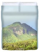 Huahine Forest And Mountaintop Duvet Cover