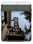 Hubbard Bar And Grille Sign Duvet Cover
