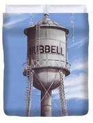 Hubbell Water Tower Poster Duvet Cover