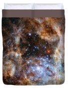 Hubble Finds Massive Stars Duvet Cover