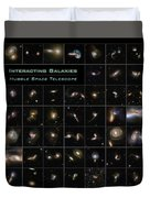 Hubble Galaxy Poster Duvet Cover