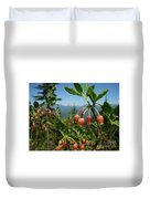 Huckleberry Flowers Atop Huckleberry Mountain In Glacier National Park Montana Duvet Cover