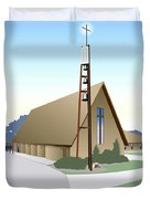 Hudson Community Church Duvet Cover