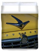 Hudson Hood Ornament And Logo Duvet Cover