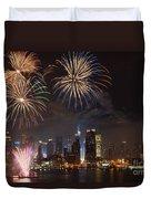 Hudson River Fireworks Iv Duvet Cover