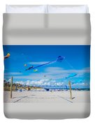 Huge Kites Delray Beach Duvet Cover