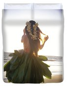 Hula At Sunrise Duvet Cover