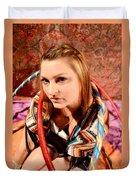 Hula Girl 2 Duvet Cover