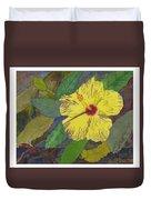 Hula Girl Hibiscus Duvet Cover