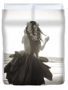 Hula Girl Duvet Cover