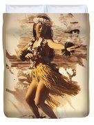 Hula On The Beach Duvet Cover