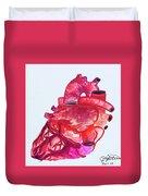 Human Heart Pa Duvet Cover
