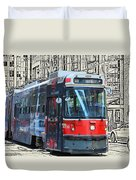 Humber Bound Streetcar On Queen Street Duvet Cover