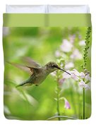 Hummer And Obedient Plant Duvet Cover