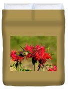 Hummer In The Bee Balm Duvet Cover