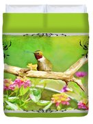 Humminbird Attitude - Digital Paint 3 Duvet Cover