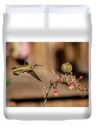 Hummingbird And Red Yucca Duvet Cover