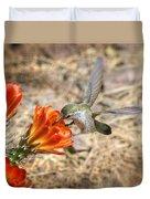 Hummingbird And The Hedgehog  Duvet Cover