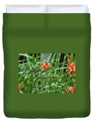 Hummingbird And Tiger Lilly Duvet Cover
