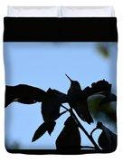 Hummingbird At Sunrise Silhouette Duvet Cover