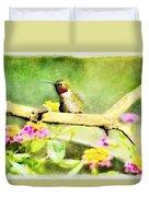 Hummingbird Attitude - Digital Paint 1 Duvet Cover