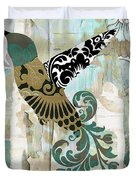Hummingbird Batik Duvet Cover