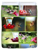 Hummingbird Collage 2 Duvet Cover