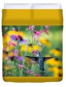 Hummingbird Dance Duvet Cover by Dana Moyer