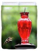 Hummingbird Feeder Duvet Cover