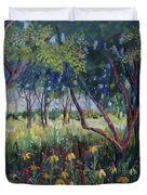 Hummingbird Gardens Duvet Cover
