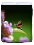 Hummingbird Hawk Moth - Four Duvet Cover