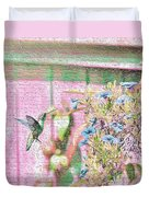 Hummingbird In The Garden Duvet Cover