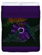 Hummingbird Morning Glory Duvet Cover