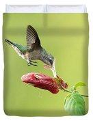 Hummingbird Nose Dive Duvet Cover