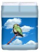 Hummingbird On High Duvet Cover