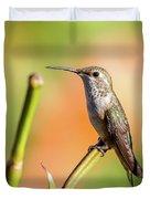 Hummingbird Perched II Duvet Cover