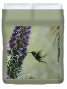 Hummingbird Sharing Duvet Cover