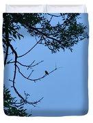 Hummingbird Silhouette Duvet Cover