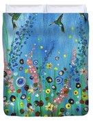 Hummingbirds Duvet Cover