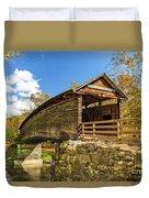 Humpback Covered Bridge In Autumn Colors Duvet Cover