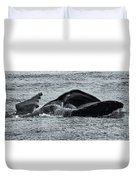 Humpback Fishing Duvet Cover