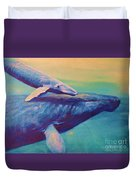 Humpback Whale And Calf Duvet Cover