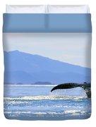 Humpback Whale Flukes Duvet Cover