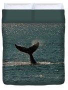 Humpback Whale Lifts Its Fluke. I Duvet Cover
