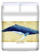 Humpback Whale Painting - Framed Duvet Cover